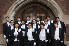 The Whiffenpoofs of Yale University, the nation's oldest collegiate a cappella group, will perform at Westminster College's Vieve Gore Concert Hall Jan. 7 with BYU's female a cappella group, Noteworthy. Courtesy Harold Shapiro