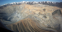 Tribune file photo Aerial view of Kennecott, which is ranked in the top 10 sources of toxic releases nationally, according to an Enviromental Protection Agency inventory released Thursday. Big mining operations contributed to an increase nationally in such releases.