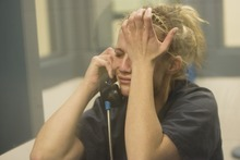Kim Raff  I  The Salt Lake Tribune Angela Hill becomes emotional while giving an interview at the Elko County jail in Elko, Nev., on Sunday.