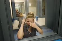 Kim Raff  I  The Salt Lake Tribune Angela Hill becomes emotional while giving an interview during visiting hours at the Elko County jail in Elko, Nev., on Sunday.