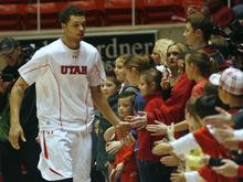 Rick Egan  | The Salt Lake Tribune   Utah Utes guard Cedric Martin (43) high-fives kids before the Utah vs. The Washington Huskies game, at the Huntsman Center, Saturday, January 7, 2012.