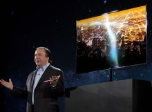 Julie Jacobson  |  The Associated Press Joe Stinziano, senior vice president for Samsung Electronics America, introduces the Samsung 55-inch Super Oled TV during a news conference at the International Consumer Electronics Show in Las Vegas. The TV uses uses organic light-emitting diodes, or OLEDs, instead of plasma or liquid crystals.