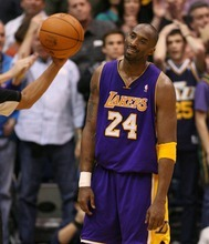 Steve Griffin  |  The Salt Lake Tribune  Kobe Bryant, of the Lakers, shrugs as he looks at the ref after he called a foul on the Jazz with .7 seconds left in the game at EnergySlutions Arena in Salt Lake City, Utah  Wednesday, January 11, 2012.