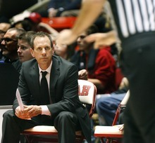 Paul Fraughton | The Salt Lake Tribune University of Utah assistant coach Tommy Connor at  the game against Washington State on Jan. 5, 2012.