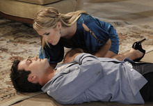 Van Hughes (Cole) and Kristen Alderson (Starr) in a scene that aired the week of Jan. 2, 2012 on ABC Daytime's
