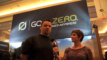 A representative from Utah based GoalZero speaks to The Tribune at the Consumer Electronics Show in Las Vegas. GoalZero makes solar powered generators and battery equipment.