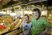Paul Fraughton | The Salt Lake Tribune. Catherine  and Tony Weller at their new location in Trolley Square on Friday, Jan. 13, 2012.