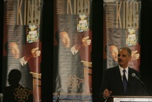 Steve Griffin  |  The Salt Lake Tribune  US Attorney General Eric Holder speaks at the Martin Luther King Commission luncheon on Friday, January 13, 2012.