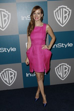 Ahna O'Reilly arrives at the 2012 Warner Bros. and InStyle Golden Globe After Party at the Beverly Hilton in Los Angeles. on Sunday, Jan. 15, 2012. (AP Photo/Matt Sayles)