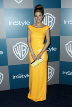 Maria Menounos arrives at the 2012 Warner Bros. and InStyle Golden Globe After Party at the Beverly Hilton in Los Angeles. on Sunday, Jan. 15, 2012. (AP Photo/Matt Sayles)
