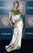 Jaime King arrives at the 2012 Warner Bros. and InStyle Golden Globe After Party at the Beverly Hilton in Los Angeles. on Sunday, Jan. 15, 2012. (AP Photo/Matt Sayles)