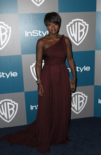 Viola Davis arrives at the 2012 Warner Bros. and InStyle Golden Globe After Party at the Beverly Hilton in Los Angeles. on Sunday, Jan. 15, 2012. (AP Photo/Matt Sayles)