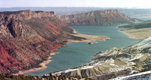 A Colorado developer wants to withdraw water from the Green River and Flaming Gorge Reservoir, which straddles the Wyoming-Utah state line.  (AP Photo/Douglas C. Pizac)