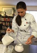 Rick Egan  | The Salt Lake Tribune   Titjana Provost works on a dish for The Mist Project.