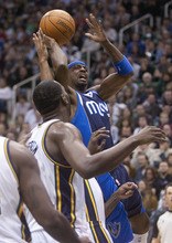 Jeremy Harmon  |  The Salt Lake Tribune  Dallas' Jason Terry goes up for a basket as the Jazz host the Mavericks at EnergySolutions Arena Thursday, Jan. 19, 2012 in Salt Lake City.