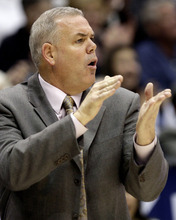 Jordan Stead | Daily Herald BYU head coach, Dave Rose, screams at his team from the sideline during the first half at the Marriott Center in Provo on Saturday, Jan. 7, 2012.
