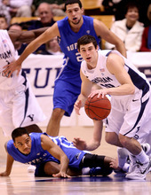 Leah Hogsten | The Salt Lake Tribune   BYU plays the Buffalo Bulls on Tuesday, Dec. 20, 2011 at the Marriott Center.