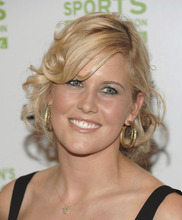 This is an Oct. 14, 2008 file photo showing Canadian skier Sarah Burke attending the 29th Annual Salute to Women In Sports Awards Dinner in New York. Burke died Thursday morning at University Hospital in Salt Lake City, her publicist and hospital officials confirmed. The 29-year-old had been comatose since hitting her head in a fall at the superpipe at Park City Mountain Resort on Jan. 10. (AP Photo/Evan Agostini, File)