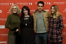 Chris Detrick  |  The Salt Lake Tribune Blythe Danner, Melanie Lynskey, Christopher Abbott and Sara Chase pose for pictures before the premiere of