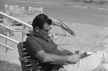 Head coach Joe Paterno of Penn State is hard at work, Dec, 20, 1969, no matter which way you look at him. Paterno was outlining workouts for his team as they practice for their game against Missouri in the Orange Bowl in January 1. The team is training in Fort Lauderdale. (AP Photo)