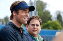 Courtesy photo Brad Pitt, left, and Jonah Hill are shown in a scene from