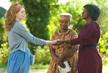 Dale Robinette  |  The Associated Press Emma Stone, Octavia Spencer and Viola Davis in