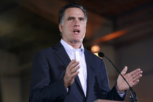 Republican presidential candidate, former Massachusetts Gov. Mitt Romney, speaks at the National Gypsum Company in Tampa, Fla., on Tuesday, Jan. 24, 2012. (AP Photo/Charles Dharapak)