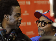 Spike Lee, right, the writer/director of