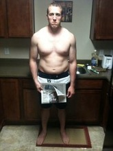A before photo of Andrew Clark who has lost more than 40 pounds Courtesy Andrew Clark