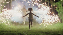 Newcomer Quvenzhané Wallis, in a scene from director Benh Zeitlin's drama