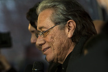 Chris Detrick  |  The Salt Lake Tribune  Edward James Olmos poses for pictures before the premiere of