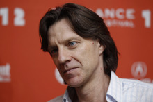 Diirector James Marsh poses at the premiere of