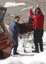 Leah Hogsten  |  The Salt Lake Tribune Medical Examiners take away the body of a skier who was killed in an avalanche. One person died in an avalanche in the backcountry between Big and Little Cottonwood canyons late Saturday, January 28, 2012.  A group of three people were skiing on Kessler Ridge, an area that drops down into Mineral Fork Canyon in Big Cottonwood Canyon, when the avalanche was triggered at about 11:30 a.m. Wasatch Backcountry Rescue and several other crews searched the area with dogs and were able to eventually locate the victim. Hoyal said the skier was found dead at the scene at about 12:45 p.m.