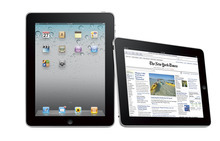 Last year's iPad 2, pictured, was a bit disappointing for those expecting a bigger upgrade in the popular computer tablet. Many believe Apple will make an announcement on the new iPad 3 next month for a release sometime in March or early April.