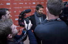 Kim Raff  |  The Salt Lake Tribune Actor Bradley Cooper is interviewed on the red carpet before the premiere of