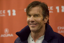 Kim Raff  |  The Salt Lake Tribune Actor Dennis Quaid is photographed on the red carpet before the premiere of