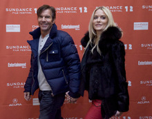 Kim Raff |The Salt Lake Tribune (from left) Dennis Quaid and his wife Kimberly arrive on the red carpet before the premiere of