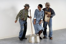 Photo courtesy of Steve Fidel  (L-R) Gregory Lang, Latoya Rhodes and Ricardo Cumba get their groove on in