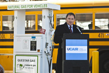 Chris Detrick  |  The Salt Lake Tribune Utah Gov. Gary Herbert on Tuesday launched his clean-air initiative, which relies on voluntary efforts to reduce pollution.