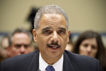 Attorney General Eric Holder testifies on Capitol Hill in Washington, Thursday, Feb. 2, 2012,  before the House Oversight and Government Reform Committee hearing entitled,