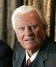 The Rev. Billy Graham, prior to his 2005 New York Crusade, has published a new book about the challenges of growing old. The longtime evangelist is 92. The Associated Press file photo/Mary Altaffer