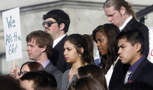 Al Hartmann  |  The Salt Lake Tribune  Two hundred students and business leaders rallied on the steps of the Utah Capitol Friday to call on legislators to invest in Utah's colleges and universities. They called themselves the