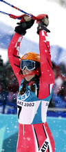 Paul Fraughton | Tribune file photo Janica Kostelic of Croatia became the first woman to win three golds in Alpine skiing.