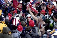 Tribune file photo Fans mob moguls skier Jonny Moseley at the 2002 Salt Lake Olympics.