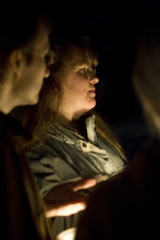 Kim Raff    The Salt Lake Tribune Kiirsi Hellewell at a vigil Sunday in Kearns for the Powell family.