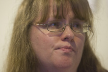 Kim Raff    The Salt Lake Tribune Kiirsi Hellewell talks Sunday about the death of Josh Powell and his two sons, Charlie and Braden. Hellewell is a close friend of Susan Powell.