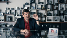 This advertisement provided by Best Buy, shows an ad starring Internet innovator Philippe Kahn, creator of the camera phone. The ad will be aired during Super Bowl XLVI, Sunday, Feb. 5, 2012. (AP Photo/Best Buy)
