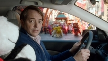 This advertisement provided by Honda Motor Co. Inc., shows award-winning actor Matthew Broderick playing himself in a grown-up version of his celebrate role of Ferris Bueller to promote the all-new 2012 Honda CR-V in a new 60-second commercial to air at the start of the fourth quarter of Super Bowl XLVI, Sunday, Feb. 5, 2012. (AP Photo/Honda Motor Co. Inc.)