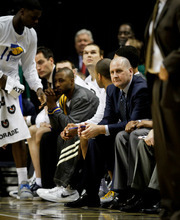 Chet Strange | Special to The Tribune Jim Boylen sits on the sideline during the Indiana Pacers' game against the New Jersey Nets on Tuesday, Jan. 31.