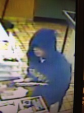 Provo Burger King security cam image of armed robbery suspects. (Provo police photo)